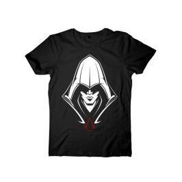 Tričko Assassins Creed - Black Hooded Assassin (velikost L)