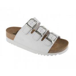 Scholl Zdravotní obuv RIO WEDGE AD Lea-W - bílá (Velikost vel. 39)