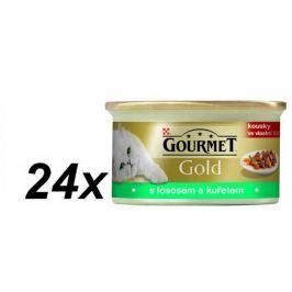 Gourmet Gold s lososem a kuřecím masem 24 x 85 g