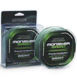 MIVARDI Šňůra Monster Braid 200 m Green 0,50mm, 61kg