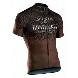Northwave Caffealvolo Jrs S/S Brown M Pánské dresy