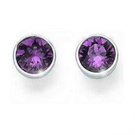 Oliver Weber Náušnice pecky s fialovými krystaly Ocean Uno 22623 204 Náušnice