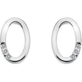 Hot Diamonds Náušnice Halo Oval DE418 stříbro 925/1000