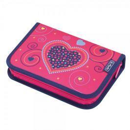 Herlitz Plný penál srdce růžové, 2 chlopně Penály, peněženky