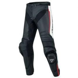Dainese kalhoty MISANO vel.44 černá/bílá/fluo červená, kůže