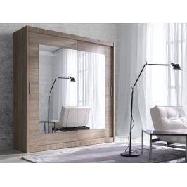 ALFA šatní skříň se zrcadlem 150 TYP 16, dub sonoma světlý