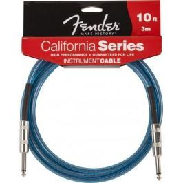 Fender California Cable 10' Lake Placid Blue Nástrojový kabel
