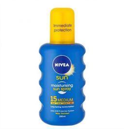 Nivea Sprej na opalování SPF 15 Sun (Moisturising Sun Spray) 200 ml