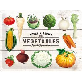 Postershop Plechová cedule Locally Grown Vegetables