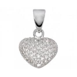 Beneto Přívěsek srdíčko s krystaly AGH06 stříbro 925/1000