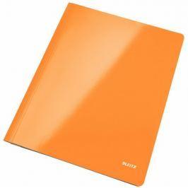 Desky Leitz s rychlovazačem WOW A4 metalicky oranžové
