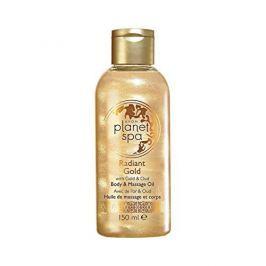 Avon Rozjasňující třpytivý tělový a masážní olej se zlatými částečkami a olejem z agarového dřeva Planet