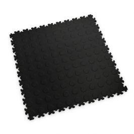 Fortelock Černá plastová vinylová zátěžová dlaždice Industry 2040 (penízky) - 51 x 51 x 0,7 cm