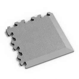 Fortelock Šedý plastový vinylový rohový nájezd 2026 (kůže) - 14 x 14 x 0,7 cm