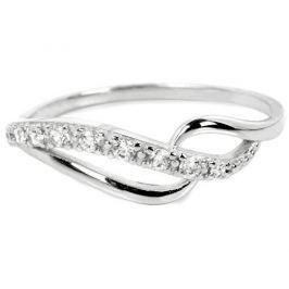 Brilio Prsten z bílého zlata s krystaly 229 001 00625 07 (Obvod 53 mm) zlato bílé 585/1000
