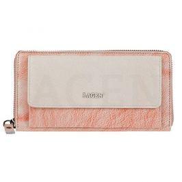 Lagen Dámská kožená peněženka 786-017 Orange Beige