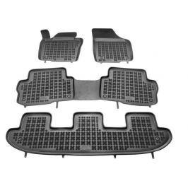REZAW-PLAST Gumové koberce, sada 4 ks (2x přední, 1x spojený prostřední, 1x spojený zadní), VW Sharan a Seat Alhambra