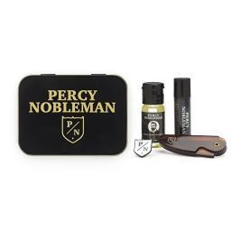 Percy Nobleman Pánská cestovní sada na vousy (Stylingový vosk + Olej na vousy + Hřeben)