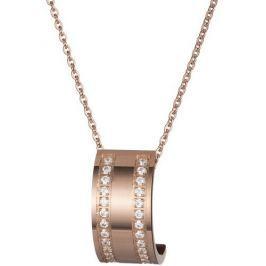 Preciosa Bronzový náhrdelník Mia s čirými krystaly 7224P00
