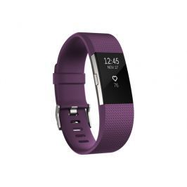 Fitbit Charge 2, Plum/Silver, Small