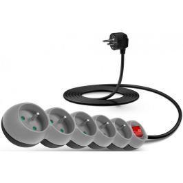 Connect IT Prodlužovací kabel (5 zásuvek; 3 m), šedá