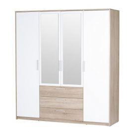 MIILO, šatní skříň, dub sonoma/bílá