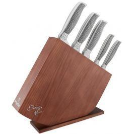 Berlingerhaus Sada nožů v dřevěném stojanu nerez 6 ks