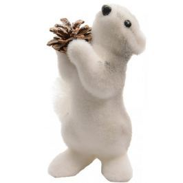 Kaemingk Vánoční figurka veverka 19 cm