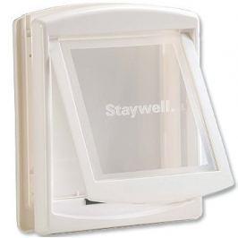 Staywell dvířka s transparentním flapem střední bílá