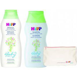 HiPP Babysanft Ošetřující přípravek do koupele 350ml + Jemný šampon 200ml + HiPP kosmetická taštička