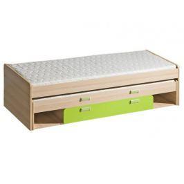 LOIRENTO, postel L16, jasan/limetka,včetně matrací