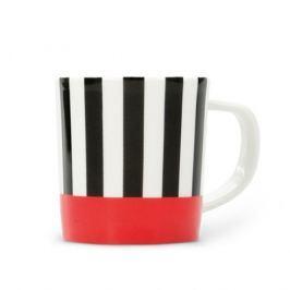 Espresso šálek s podšálkem Black Stripes