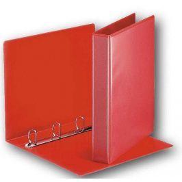 Pořadač 4-kroužkový prezentační s přední kapsou 5,1 cm červený