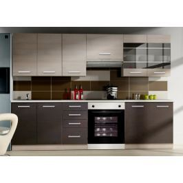 Kuchyně CHIAMONIX 180/240 cm, tmavé legno/chamonix