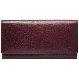 Lagen Dámská kožená peněženka V-102/T-vínová/červená