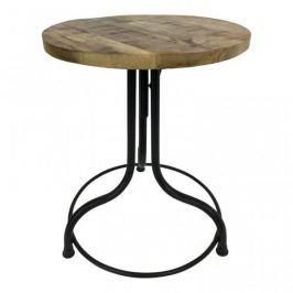 Mørtens Furniture Odkládací stolek Kate, 38 cm, dřevo/černá