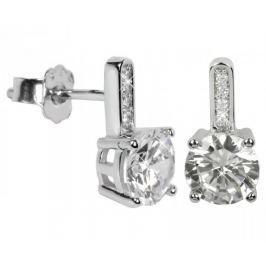 Silver Cat Stříbrné náušnice s krystaly SC033 stříbro 925/1000