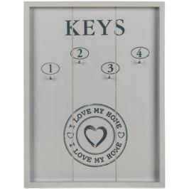 Toro Držák na klíče, dřevo 4 háčky
