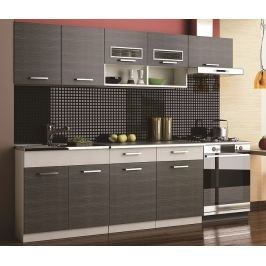Kuchyně MOORENO II 180/240 cm, šedá