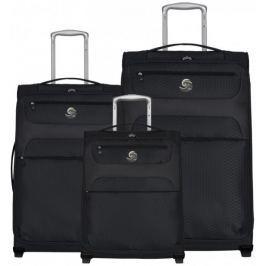 Eco-Lite T-1161/3 Sada cestovních kufrů, černá