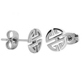 Troli Ocelové náušnice z oceli ve tvaru ornamentu
