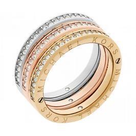 Michael Kors Sada tří vrstvených prstenů Tricolor MKJ6388998 (Obvod 58 mm)