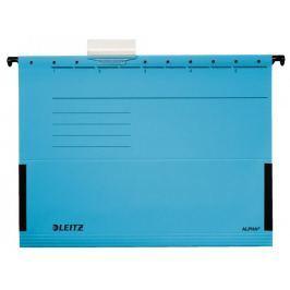 Závěsné desky Leitz ALPHA s bočnicemi modré