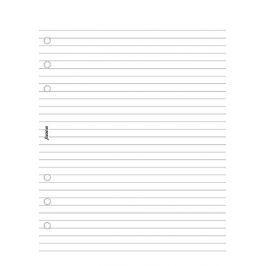 Náhradní náplň do diáře Filofax A5 poznámkový blok linkovaný, 50 listů