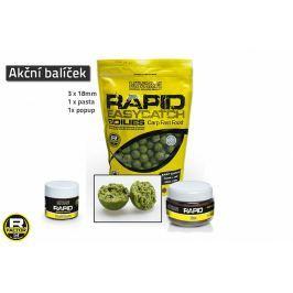 MIVARDI Akční balíček boilie a doplňků Rapid - Česnek + Chilli