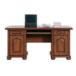 Klasický PC stůl se zásuvkami a skříňkami NATALIA, BIU/160, višeň primaver