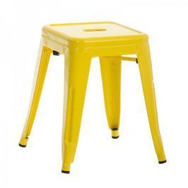 BHM Germany Stolička / židle bez opěradla Arman, žlutá