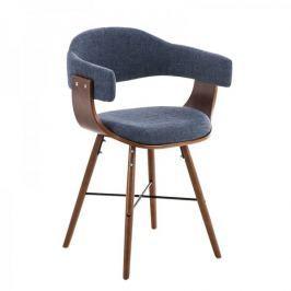 BHM Germany Jídelní / jednací židle dřevěná Dancer II. textil (SET 2 ks), modrá