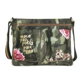 Desigual zelená kabelka Baqueira Militar Flores