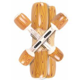TM Toys Nafukovací vodní hra dřevěné kulatiny 106x28 cm